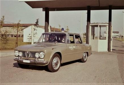 Alfa Romeo Giulia als Polizeiwagen in den 1970er-Jahren. Foto: Auto-Medienportal.Net/FCA
