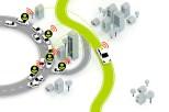 Geben und Nehmen: Anonymisierte Daten anderer Verkehrsteilnehmer helfen dem System, die Lage zu erkennen und sie zu entzerren. © TomTom