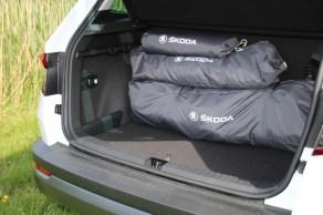 Skodas flexible Bleibe ist klein und wiegt nur rund zehn Kilogramm. Foto: Auto-Medienportal.Net/Skoda