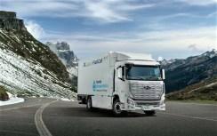 Schwerer Brennstoffzellen-Lkw von Hyundai. Foto: Auto-Medienportal.Net/Hyundai