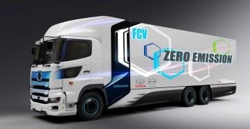 Wasserstoff-Einsatz bei Toyota im Truck mit Brennstoffzellen. Foto: Auto-Medienportal.Net/Toyota