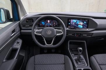 Das Cockpit im Caddy ähnelt dem des Golf fast bis ins kleinste Detail. © VWN