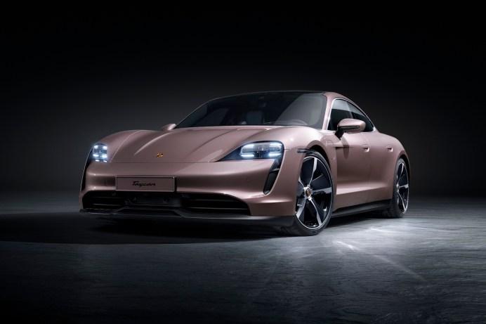 Sportlicher Auftritt: Der Porsche Taycan ist ein Hingucker. © Porsche