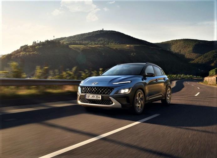 Auch der Kona Hybrid rollt mit modernerem Design in die Schauräume. © Hyundai