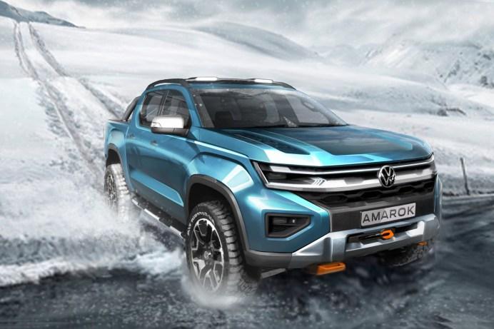 VW Amarok 2022 (Skizze). Foto: Auto-Medienportal.Net/Volkswagen