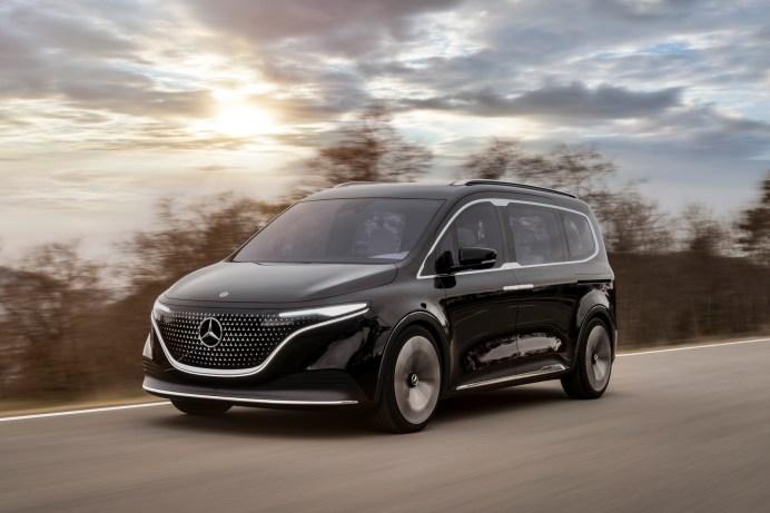 Eleganz und Nutzwert auf fast fünf Metern Länge: der Mercedes Concept EQT als Vorbote der neuen T-Klasse. © Daimler Mercedes-EQ Concept EQT 2021