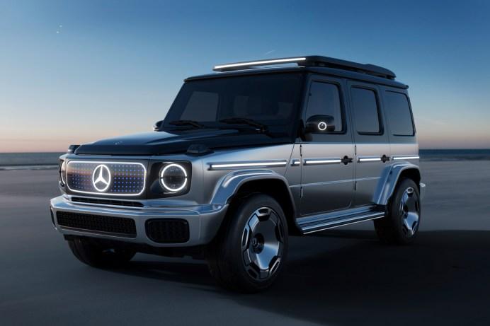 """Mit dem Slogan """"Stronger than Time"""" (stärker als die Zeit) begleitet Mercedes die Erstenthüllung des Concept EQG. © Daimler"""
