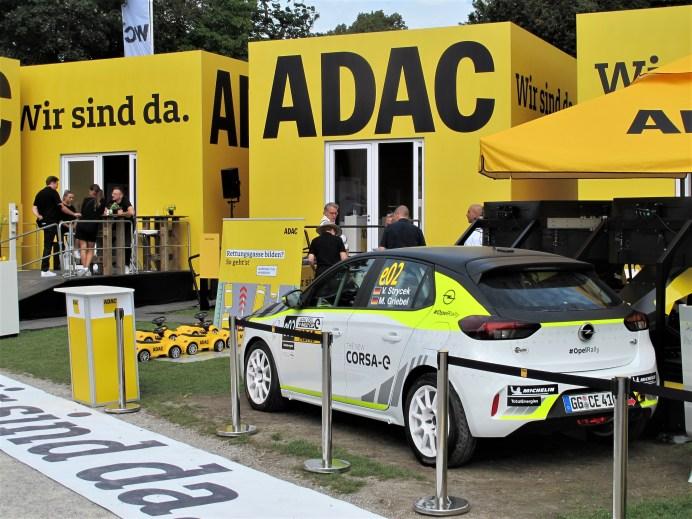 Der einzige Opel auf der IAA MOBILITY war der Rally-Corsa-e beim ADAC-Stand auf dem Königsplatz. © Karl Seiler