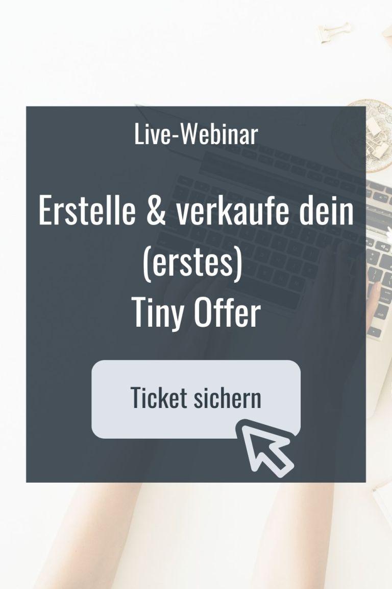 Live Webinar Tiny Offer