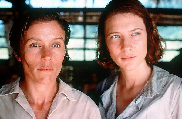 With Frances McDormand as prisoners of war in Paradise Road.