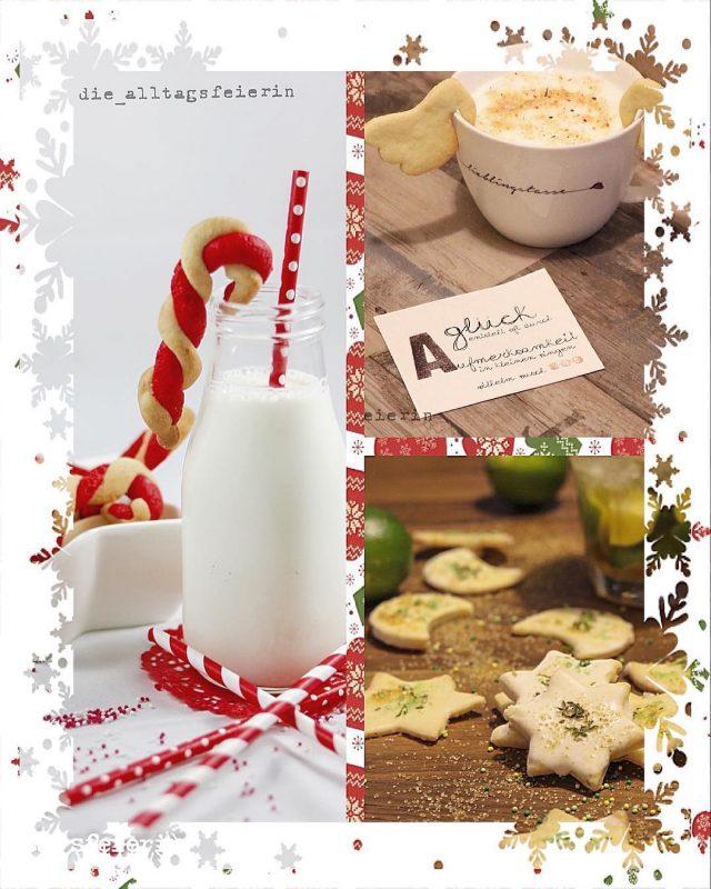 """Weihnachten, Weihnachtsbaeckerei, Plaetzchen backen, Butterplaetzchen, Speisplan, Essensplan, Freebie, Wochenplan, Download, Familienküche,Huhu meine süßen Zuckerbäcker, ich bin noch unterwegs, hab für euch aber schon mal was in meinen Blog hüpfen (oder soll ich wohlweislich, lieber schon das Wort kugeln benutzen) lassen. * """"Pimp up your Butterplätzchen"""", heißt es heute und hier stelle ich euch erst mal ein echt dankbares und pflegeleichtes Grundrezept vor, um dann auch noch das Geheimnis der Caipirinha-Ausstecherli zu lüften....www.diealltagsfeierin.de. * Ich freue mich auf euren Besuch, schönen Vormittag #weihnachten #weihnachtsbäckerei #inderweihnachtsbäckerei #buttergebäck #ausstecherli #mürbteigplätzchen #caipirinhacookies #christmascookies #christmasbakery #seelenfutter #foodie #ilovefood #foodblogger #zuckerstangen #tassenkekse #foodgasm #foodstagram #instafood #diealltagsfeierin #alltagsfeierei #druckrauslebensfreuderein #entschleunigen #foodblog #christmas"""