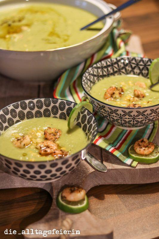 {REZEPT} * Grüne Kokossuppe mit Garnelen *Suppendienstag*