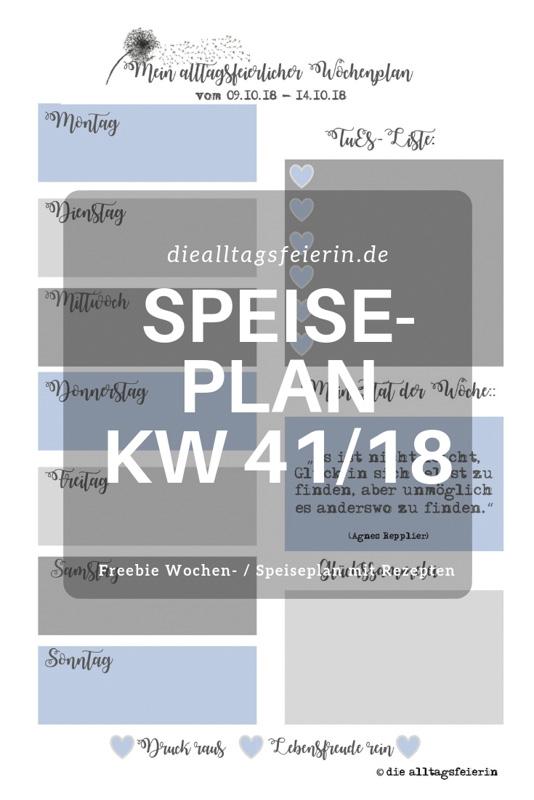 Speiseplan KW 41/18 * Herbstlich-Willkommen-Küche *