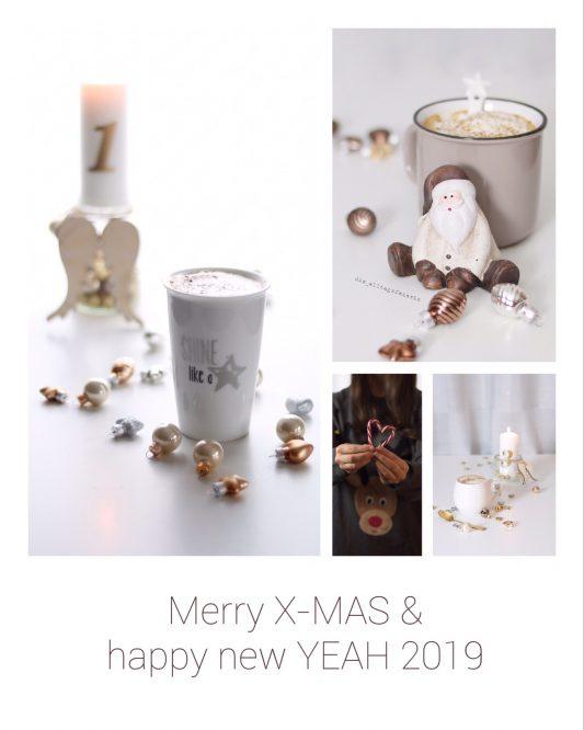 Weihnachtswünsche und Grüße von diealltagsfeierin, Merry X-Mas and a happy new year 2019