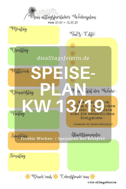 #diefreitagsfragerei, Wochenglückrückblick, Wochenendfeierei, KW12-19, Speiseplan, Wochenplan KW 13-19, Ikea