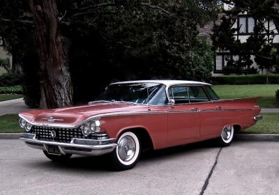 1959 Buick LeSabre 4dr ht 4 in Tawny Rose and Arctic White