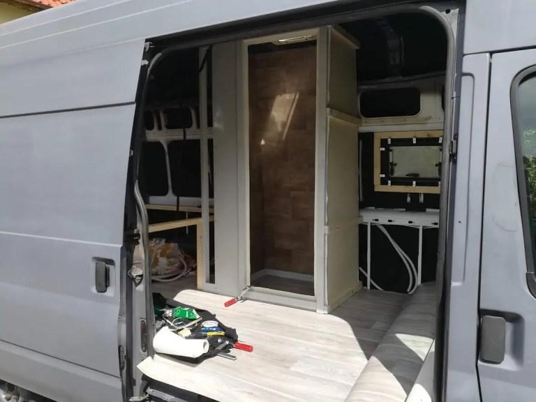 Unser Camper Ausbau – die Dusche