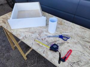 Wir bekleben unsere Schubladen