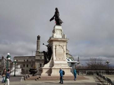 Statue von Samuel de Champlain, Gründer der Stadt Quebec