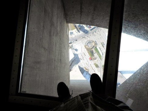 Der Glasboden im CN-TOWER