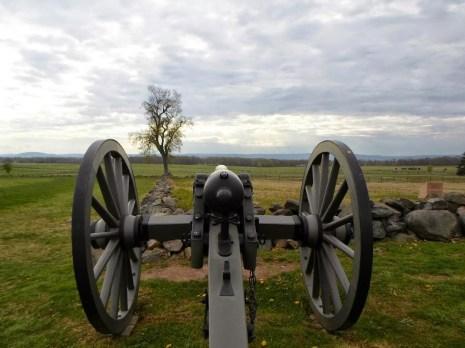 Kanone am High Water Mark in Richtung Konförderierten