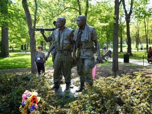 Die Bronze-Figuren des Vietnamdenkmal