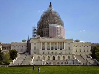 Das Kapitol, leider auch heute noch eingerüstet