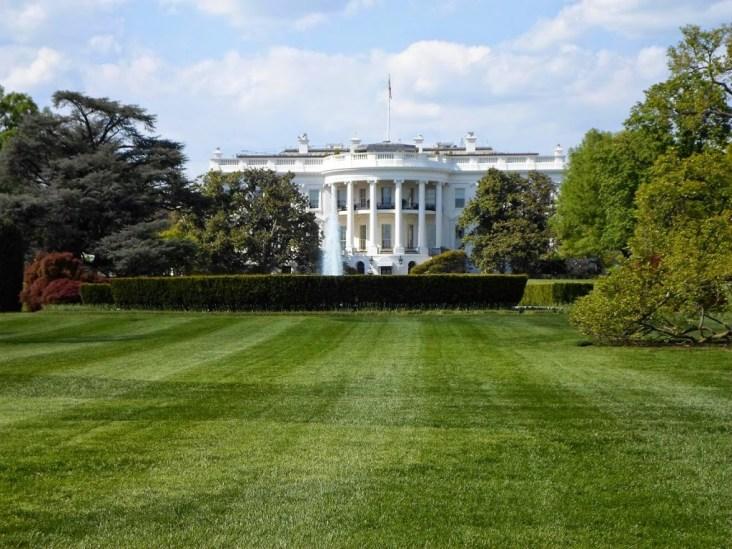 Das weiße Haus wie es alle kennen von der Südseite