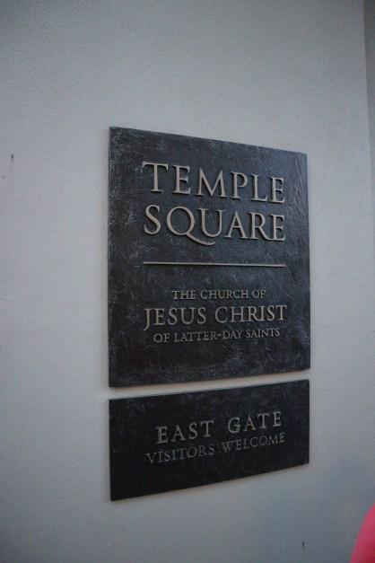Der Eingang zum Temple Square Park