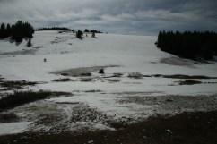 Schnee auf dem höchsten Pass
