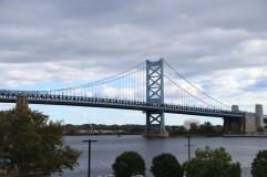 Benjamin Franklin Bridge von Philadelphia nach New Jersey