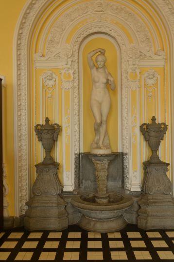 Fountain inside of bath house