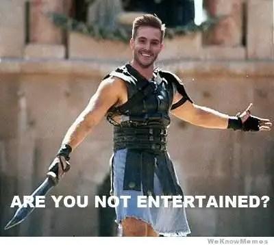 el hombre riduculamente fotogenico gladiador