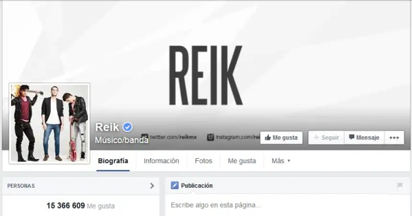 Reik facebook