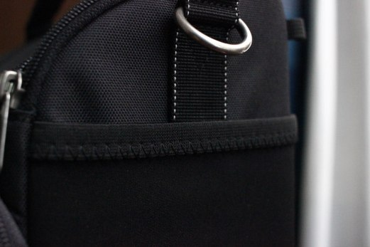 Elastic nylon pocket. Great for easy and quick access.
