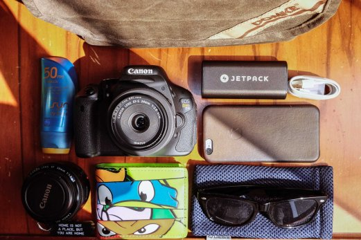 Contents of a Canon carry.