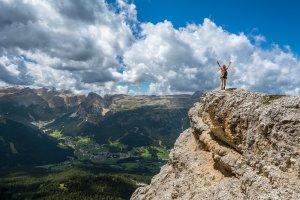 person mountain top achieve 1245959