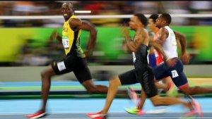 usain bolt 2016 gold medal 100m run