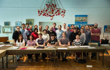 Group pic with Chen Yi and Alessandro Solbiati