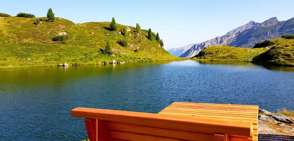 Der Krummschnabelsee in im Salzburger Land gelegenen Obertauern.