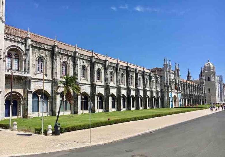 """Lissabon. Das Hieronymitenkloster in Belém, besser bekannt als """"Mosteiro dos Jerónimos""""."""