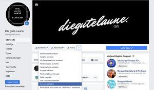 """Um Freunde auf die Facebook Unternehmensseite einzuladen, auf den Bereich """"…"""" gehen und """"Freunde einladen"""" klicken."""