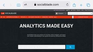 Via Socialblade lässt sich einfach und gratis jeder beliebige Account rasch überprüfen. Einfach den zu überprüfenden Profilnamen in das Feld eintragen und fertig!