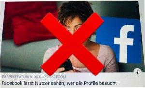 """Auf keinen Fall anklicken! Beiträge wie """"Facebook lässt Nutzer sehen, wer die Profile besucht"""", führen in eine Login-Falle! Foto: Facebook-Hacker"""