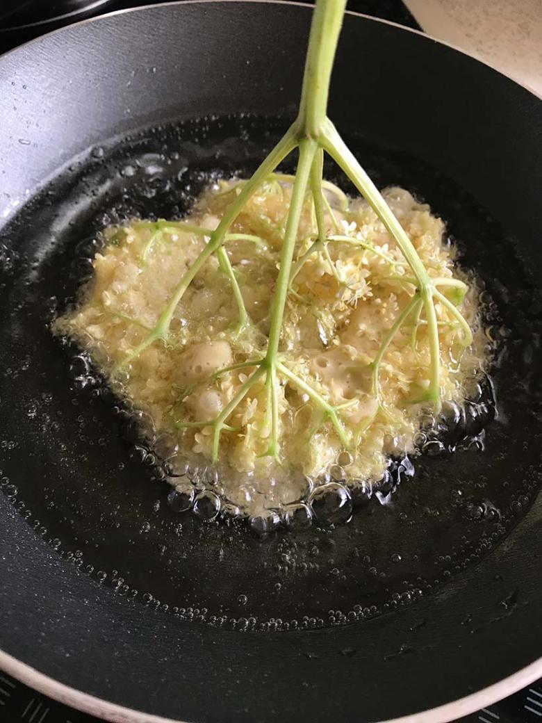 Ein wahrlich zu Unrecht beinahe vergessenes Rezept aus Oma´s Küche: Gebackene Hollerblüten. Foto: Tauernhex