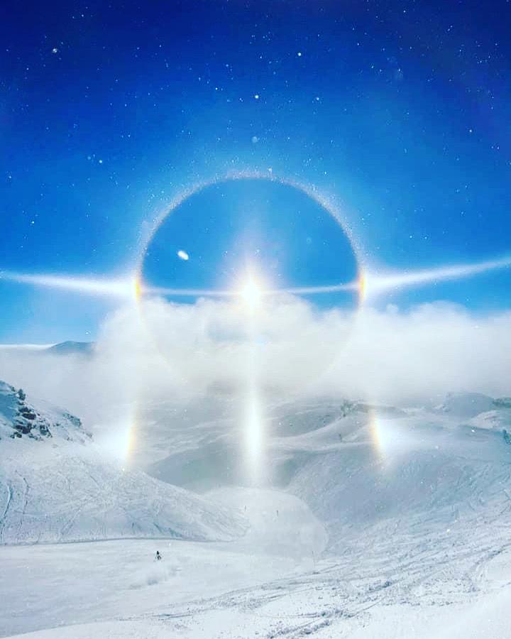Halo über Obertauern am Dienstag, 5. Januar 2021. Foto: Lisi Krings