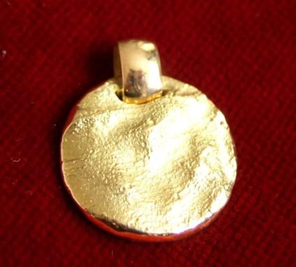 Fingerabdruck in Gold