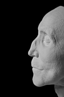Totenmaske Nahaufnahme Profil