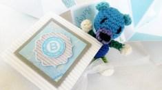 Babykarte in Blau
