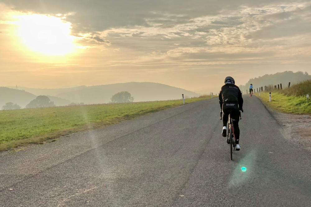 Urlaub machen. Rennrad fahren.
